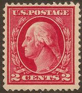 USA 1912 2c Washington P12 SG 407 HM #AAY155 - United States