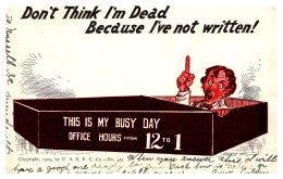 """8090  Office Worker In Coffin  """"don't Think I""""m Dead """" - Humour"""