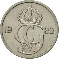 Suède, Carl XVI Gustaf, 50 Öre, 1983, SUP, Copper-nickel, KM:855 - Suède