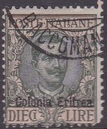 Italy-Colonies And Territories-Eritrea S 40 1916 King Vittorio Emanuele  10 Lire Gray Green And Red - Eritrea