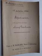 ( étude ) De NOTAIRE Me BANLIER à CHATEAUDUN Anno 1936 / ADJUDICATION ( Voir Photo Pour Détail ) ! - Non Classés