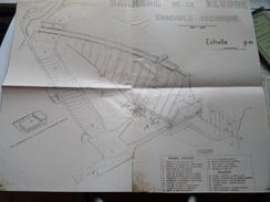 STUWDAM Op De VESDRE BARRAGE De La : Ensemble Technique / Plan + Legende ( Voir Photo Pour Détail ) ! - Public Works