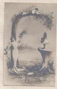 7AJ436 ALPHABET LETTRE G ROMANTIQUE 2 SCANS - 1900-1949