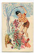 CPA  Illustrateur : Garçon  Et Chien     A  VOIR  !!!! - 1900-1949