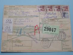 Paketkarte / Bulletin D'Expedition BRAUNSCHWEIG > BRUSSEL Anno 1981 ( Voir Photo Pour Détail ) ! - [7] République Fédérale