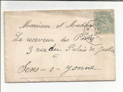 AMBULANT DE SCEAUX A PARIS DU 7/1/1905 - Marcophilie (Lettres)