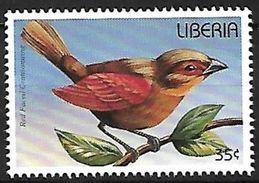 Liberia MNH 1996 - Red-faced Crimsonwing (Cryptospiza Reichenovii) - Zangvogels