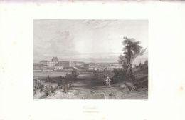 1841 - Gravure Sur Acier - Versailles (Yvelines) - Vue Générale - FRANCO DE PORT - Estampes & Gravures