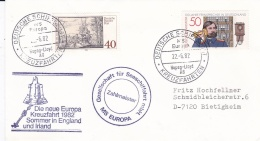 Ships: M/S Europa From The Hapag Lloyd On Cruise Around England & Ireland P/m Own Cachet 1982  (DD4-28) - Schiffe