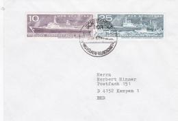 Ships: M/S Völkerfreundschaft Posted 1976 Using Ships Own Cachet     (DD4-28) - Schiffe