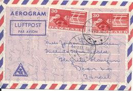 Denmark Aerogramme Sent To Israel Aarhus 4-10-1963 - Luftpost