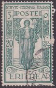 Italy-Colonies And Territories-Eritrea S 108 1926 Istituto Coloniale Italiano ,20c + 5c Green,Used - Eritrea