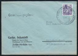 3024 - Alter Beleg - Bedarfspost - Zella Mehlis - Gebrüder Schmidt Fabrik Für Sportartikel - Sonderstempel - DDR