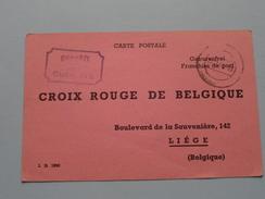 Croix Rouge De Belgique Liège : Anno 1942 / 1943 Roten Kreuzes / Inventaire : Stalag ( Zie Foto´s Voor Details ) !! - Croix-Rouge