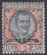 Italy-Colonies And Territories-Eritrea S 127 1928 King Vittorio Emanuele III, 2,50 Lira Green And Orange, MH - Eritrea