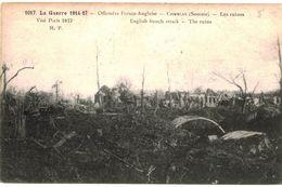 CPA N°7159 - LA GUERRE 1914-17 - OFFENSIVE FRANCO ANGLAISE - COMBLES - LES RUINES - MILITARIA 14-18 - Combles