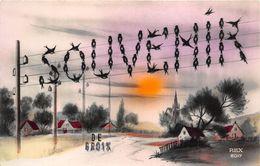 ¤¤  -  ILE-de-GROIX   -  Souvenir De .........   -  Carte Fantaisie   -  ¤¤ - Groix