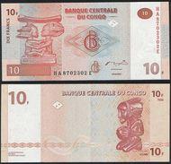 Congo DEALER LOT ( 10 Pcs ) P 93 - 10 Francs 30.6.2003 - UNC - Congo