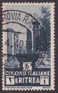 Italy-Colonies And Territories-Eritrea S 209 1933  Temple Ruins 1 Lira Dark Blue Gray Used - Eritrea