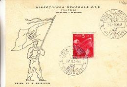 Roumanie - Carte FDC Illustrée De 1948 - Oblit Bucaresti - Drapeaux - 1918-1948 Ferdinand, Carol II. & Mihai I.