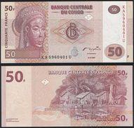 Congo DEALER LOT ( 10 Pcs ) P 97 - 50 Francs 31.7.2007 - UNC - Congo