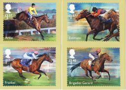 Great Britain 2017 Set 8 Postcards  Racehorse Legends Horses Horse Equestrian Hippisme  Chevaux - Hípica