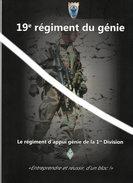 Pochette  Porte Documents 19° Régiment Du Génie - Militaria