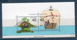 Capo Verde  1992 -- 500 ° Colombo --- Yvert  BF 17 **MNH /VF - Christopher Columbus