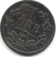 Sweden 1 Ore 1864 L.A.  Km 705     Fr+ - Suecia