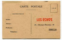 Cpa Pub : LES ECHOS  à Paris   A  VOIR  !!!!!!! : - Advertising