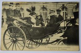 Les Souverains Danois à Versailles - La Reine Et Mme Poincaré - Animée : Belle Animation - (n°8708) - Royal Families
