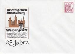 PU 112/39**  Briefmarken Ausstellung Waiblingen`77 25 Jahre - Veranst: Sammlergruppe Waiblingen - Privatumschläge - Ungebraucht