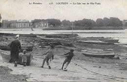 LOCTUDY LA CALE VUE DE L'ILE TUDY BRETONNE EN COIFFE ENFANTS - Loctudy