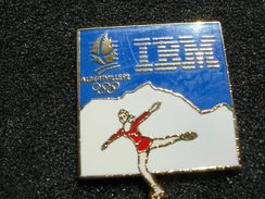 PIN´S  JEUX OLYMPIQUES  ALBERTVILLE 92 IBM PATINAGE - Jeux Olympiques