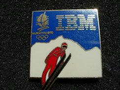 PIN´S  JEUX OLYMPIQUES  ALBERTVILLE 92 IBM SAUT A SKI - Jeux Olympiques
