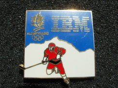 PIN´S  JEUX OLYMPIQUES  ALBERTVILLE 92 IBM HOCKEY - Jeux Olympiques