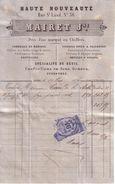 MAINE ET LOIRE - ANGERS - HAUTE NOUVEAUTE , MARIAGE , DEUIL , FOURRURES , SOIERIES , DENTELLES - MAIRET JNE - 1876 - 1800 – 1899