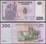 Congo REPLACEMENT Z P 99 - 200 Francs 31.7.2007 - UNC - Congo