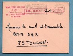 CACHET DU DEPOT CENTRAL DES ISOLES ET CAR 1 RUEIL MALMAISON(92) SERVICE MILITAIRE SUR LETTRE 1969 - Marcophilie (Lettres)