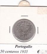 PORTOGALLO   50 CENTAVOS   ANNO 1935  COME DA FOTO - Portogallo