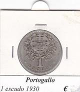 PORTOGALLO   1  ESCUDO   ANNO 1930  COME DA FOTO - Portogallo