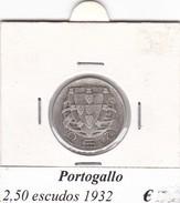PORTOGALLO   2,50  ESCUDOS   ANNO 1932  COME DA FOTO - Portogallo