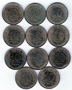 Lot De 11 Pièces De 10 Centimes De 1967-1969-1973-1974 Chouette-1983-1987- En T B Et En T T B - S U P - Kilowaar - Munten