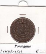 PORTOGALLO   1 ESCUDO   ANNO 1924  COME DA FOTO - Portogallo