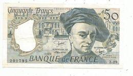 Billet , 50 Francs , 1982 , QUENTIN DE LA TOUR , 2 Scans - 50 F 1976-1992 ''Quentin De La Tour''