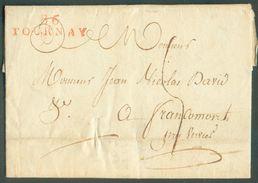LAC De 86/TOURNAY Le 10 Juin 1810 Vers Francomont Par Verviers (=griffe Dateuse Au Verso). TB  - 12111 - 1794-1814 (French Period)