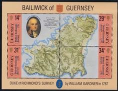 Guernsey, 1987, 385/88 Block 4, Duke Of Richmond`s. MNH ** - Guernesey