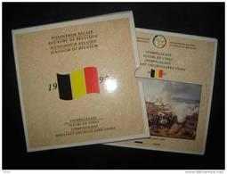 FDC M/MS 15 FR+VL 1990: 10 Pièces + 1 Médaille (60.000 Ex.) Belgie/Belgique/Belgien WATERLOO 1815 - 1951-1993: Baudouin I