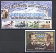 M27 PAPUA NEW GUINEA 100TH ANNIVERSARY OF AVIATION WRIGHT BROTHERS 1KB+1BL MNH - Airplanes