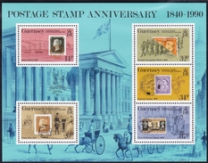 Guernsey, 1990, 487/91 Block 6, 150 Years Stamps. MNH ** - Guernsey